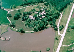 Aerial photo of Taliesin, Spring Green, Wisconsin