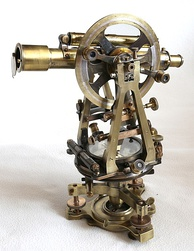 A theodolite of the transit type with six-inch circles, manufactured in Britain ca. 1910 by Troughton & Simms