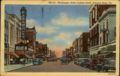 Washington Avenue, downtown, in the 1940s