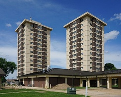 The tallest buildings in Poplar Bluff, Missouri; Wilson and Hillcrest Towers