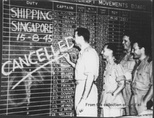 The last bombing raid of World War II by 99, 356 and 321 Squadrons is cancelled, 15 August 1945.[57]