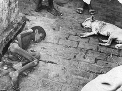 Child who starved to death during the Bengal famine of 1943.