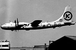 A 43d Bombardment Wing Boeing B-50D on rotation to England 1953