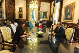President of Argentina Cristina Fernández de Kirchner (left) and Felipe Calderón (right) 2010.