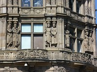 Victorian caryatids on an Edinburgh department store