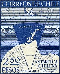 Commemorative stamp on the Declaration on the Antártica Chilena Province.