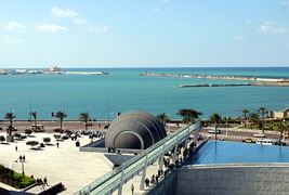 Coast of Alexandria, view From Bibliotheca Alexandrina, Egypt