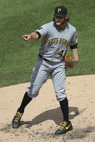 Gerrit Cole, seen here with the Pirates in 2014, was the Game 2 winning pitcher.
