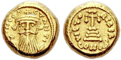 A solidus (coin) of Constans II that was minted in Carthage.