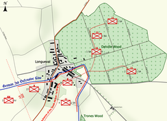 Positions on 14 July 1916
