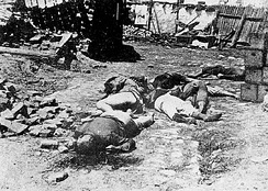 Aftermath of the Odessa Massacre: Jewish deportees killed outside Brizula (now Podilsk).