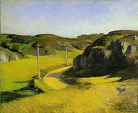 Edward Hopper, Road in Maine, 1914. Associated with American realism and members of the Ashcan School.