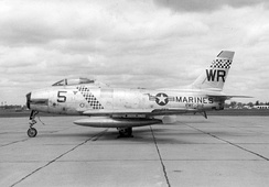 Marine Corps FJ-2 of the VMF-312 Checkerboards.