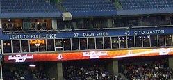 Cito Gaston's name is honoured by the Toronto Blue Jays in Rogers Centre.