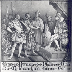 The Frisian representative refusing to kneel before Philip II at his coronation