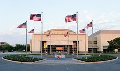 The George H.W. Bush Presidential Library and Museum on the west campus of Texas A&M University in College Station, Texas