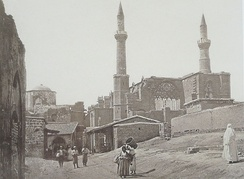 Selimiye Mosque in 1878, immediately after the British takeover of the city