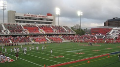 The Stony Brook Seawolves during their 2012 homecoming game