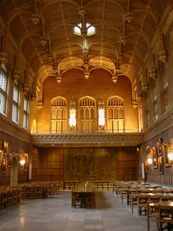 The dining hall at King's College.