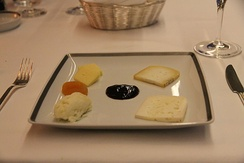 A plate of Portuguese cheeses