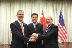 Garcetti in China in November 2014