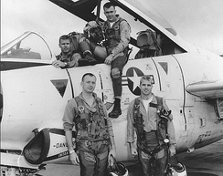 John McCain (front right) served as a Navy pilot and participated in Operation Rolling Thunder.
