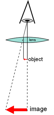 Diagram of a simple microscope