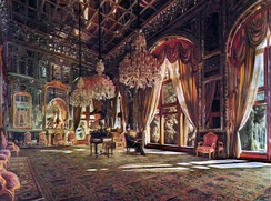 Kamal-ol-Molk's Mirror Hall, often considered a starting point in Iranian modern art[438]