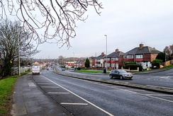 The A139 Billingham Road, Norton. The former route of the A19 on the Stockton-on-Tees to Sunderland stretch.