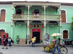 Sites of the Pinang Peranakan Mansion were used in the drama