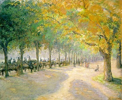 Hyde Park, drawn by Camille Pissarro, 1890
