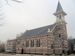 Reformed church in Koudekerk aan den Rijn (Netherlands), 19th century