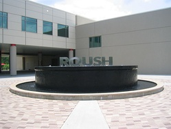 Outside Roush headquarters.