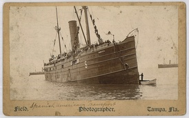 The American transport ship Seneca, a chartered vessel that carried troops to Puerto Rico and Cuba