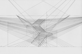 Staircase in two-point perspective