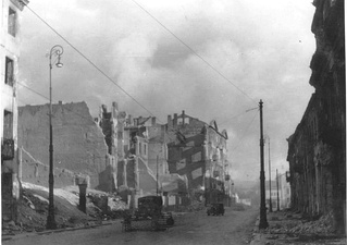 NARA copy #47, IPN copy #50no image caption, in section This is how the former Ghetto looks after having been destroyedNalewki Street, looking South from the gate at Nalewki/Gęsia/Franciszkańska intersection.