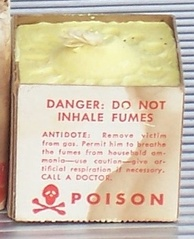 Sulfur candle originally sold for home fumigation