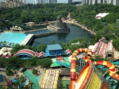 Aerial view of the Sunway Lagoon in Bandar Sunway, Malaysia