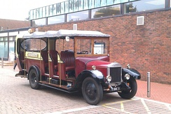 Toastrack, a 1929 Dennis GL that has been owned by the University of Southampton Engineering Society since 1958.