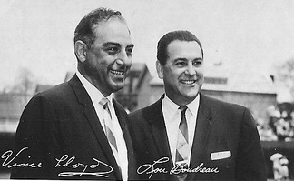 Cubs broadcasters, July 13, 1965 – Vince Lloyd and Lou Boudreau