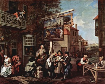 William Hogarth's Election series, Humours of an Election, plate 2