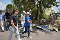 President Donald Trump visits Naples, Florida to talk with people impacted by Hurricane Irma