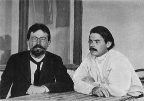Anton Chekhov and Gorky. 1900, Yalta