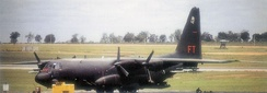 Lockheed C/AC-130A-LM Hercules Serial 55-0029 of the 16th Special Operations Squadron, May 1974. This aircraft survived the war and eventually was sent to AMARC for scrapping 15 November 1994