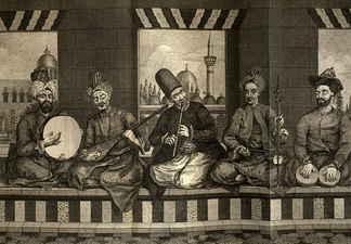 Music band from Ottoman Aleppo, mid 18th century