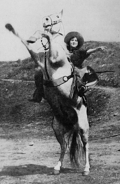Little as Kate Arnold in Lightning Bryce (1919).