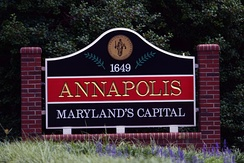 Annapolis, Maryland, sign