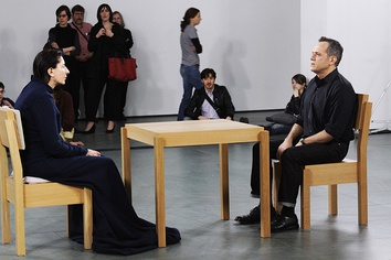 Abramović performing The Artist Is Present, Museum of Modern Art, March 2010