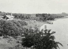 A backwater and canal in Malabar, c. 1913