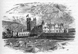 Balmoral Castle - a principal keep similar to that of Craigievar Castle is the central feature of the castle, while a large turreted country house is attached